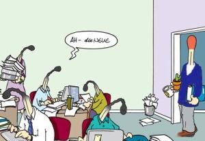 Harte Bilder - Cartoons auf Arbeit