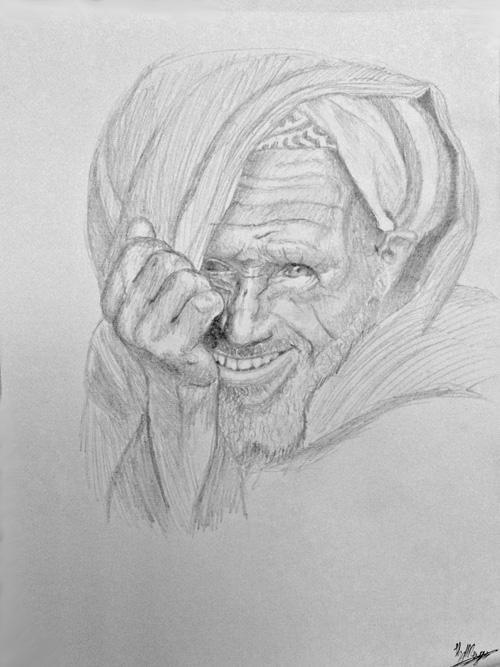 desert man by Hendrik J.J. Meijer